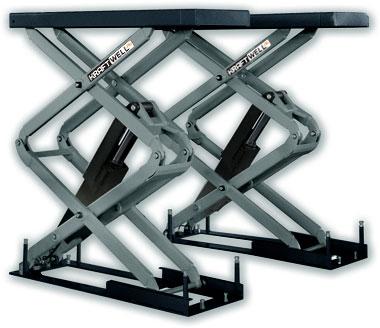 Подъемник ножничный короткий г/п 3200 кг. заглубляемый
