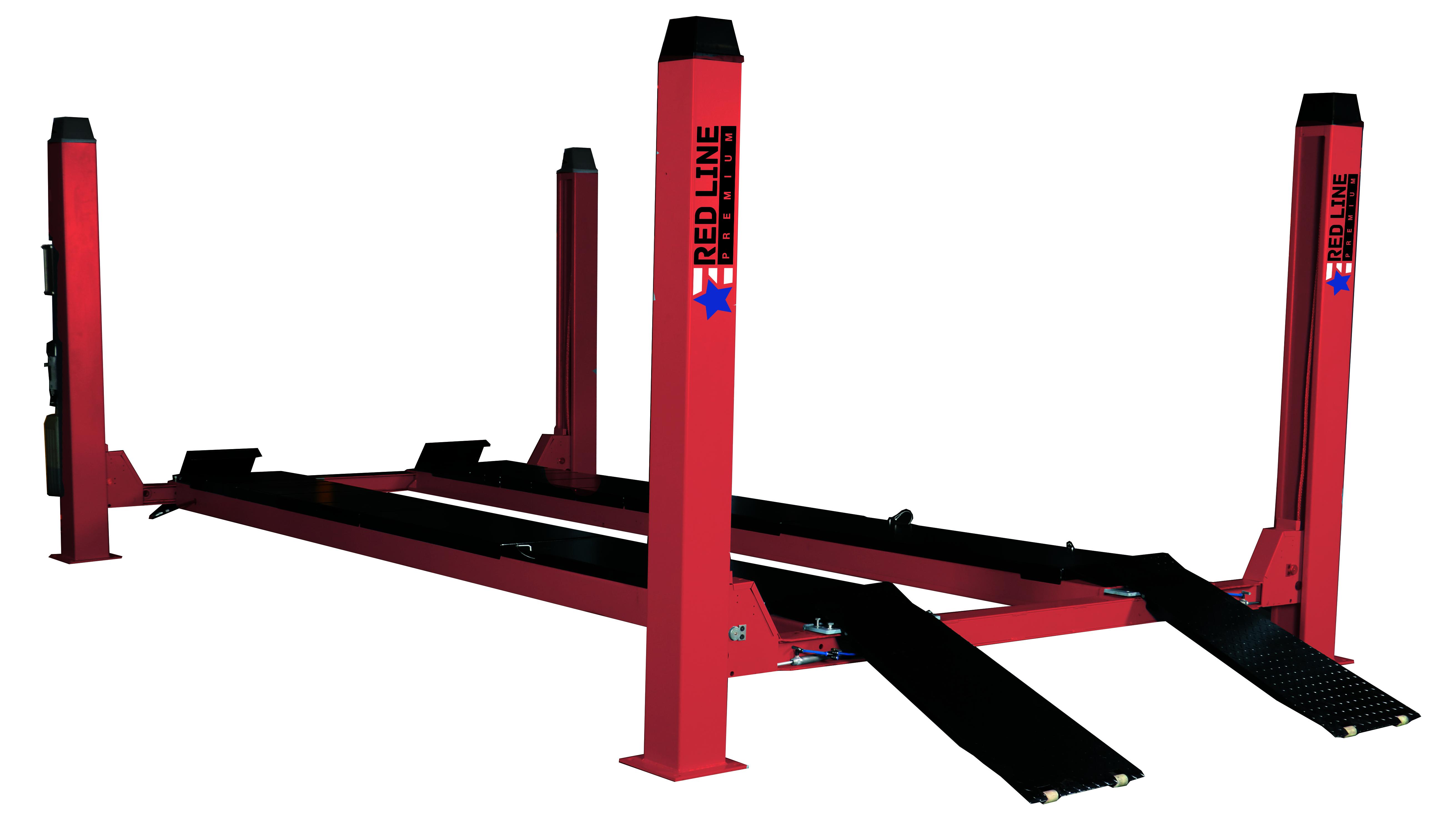 Подъемник четырехстоечный г/п 4500 кг. платформы для сход-развала